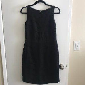 Banana Republic Black Ruffled Layered Dress